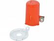 3: Sicherheitsabdeckung für Drucktasten (klein mit hoher Abdeckung)