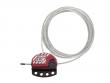 1: S806 Kabel-Verriegelung (15 Meter Kabel)