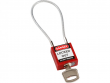 10: Kompaktes Sicherheitsschloss mit Kabelbügel (rot)