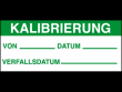 6: Kalibrierungs-Etiketten (Kalibrierung)