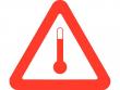 24: Gefahrgutschild - Kennzeichen für erwärmte Stoffe
