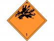 1: Gefahrgutschild Klasse 1 - Explosive Stoffe und Gegenstände mit Explosivstoff