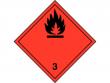 4: Gefahrgutschild Klasse 3 - Entzündbare, flüssige Stoffe