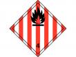 26: Gefahrgutschild Klasse 4.1 - Entzündbare feste Stoffe und desensibilierte, explosive Stoffe