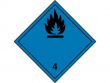 10: Gefahrgutschild Klasse 4.2 - Stoffe, die in Berührung mit Wasser entzündbare Gase entwickeln