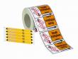 14: Vorgedruckte Rohrmarkierer (inkl. Gefahrstoffkennzeichnung)