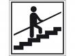 21: Hinweisschild - Treppe mit Geländer