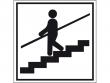 22: Hinweisschild - Treppe mit Geländer