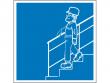 24: Hinweisschild - Treppe mit Geländer