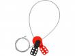 5: Safelex - universelle Kabelverriegelung mit beschichtetem Stahlkabel