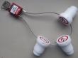 1: Isoliersperrstopfen mit Kabelbügelschloss