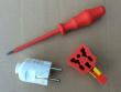 4: Universal-Absperrvorrichtung für Stecker   Schlitzschraubenzieher (wird für die Montage benötigt)