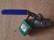 1: Abschließbarer Muffen-Kugelhahn (geschlossen gesichert)