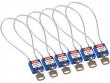 2: Kompakte Sicherheitsschlösser mit Kabelbügel (blau)