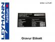 3: Etikett mit Lasergravur