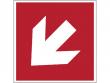 8: Richtungspfeil diagonal (Brandschutzschild - gemäß DIN EN ISO 7010, ASR A1.3)