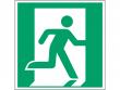 2: Notausgang rechts (Rettungsschild / Erste-Hilfe-Schild gemäß ISO 7010, ASR A1.3)