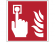 5: Brandmelder (Brandschutzschild gemäß DIN EN ISO 7010, ASR A1.3)