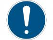 1: Gebotsschild - Allgemeines Gebotszeichen (gemäß DIN EN ISO 7010, ASR A1.3)