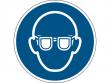 4: Gebotsschild - Augenschutz benutzen (gemäß DIN EN ISO 7010, ASR A1.3)