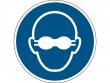 7: Gebotsschild - Weitgehend lichtundurchlässigen Augenschutz benutzen (gemäß DIN EN ISO 7010, ASR A1.3)