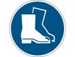8: Gebotsschild - Fußschutz benutzen (gemäß DIN EN ISO 7010, ASR A1.3)