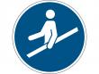 12: Gebotsschild - Handlauf benutzen (gemäß DIN EN ISO 7010, ASR A1.3)