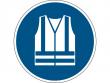 15: Gebotsschild - Warnweste benutzen (gemäß DIN EN ISO 7010, ASR A1.3)