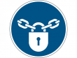 27: Gebotsschild - Sperren (gemäß DIN EN ISO 7010, ASR A1.3)