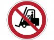 6: Verbotsschild - Für Flurförderzeuge verboten (gemäß DIN EN ISO 7010, ASR A1.3)