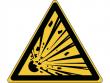 2: Warnschild - Warnung vor explosionsgefährlichen Stoffen (gemäß DIN EN ISO 7010, ASR A1.3)