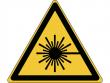 4: Warnschild - Warnung vor Laserstrahl (gemäß DIN EN ISO 7010, ASR A1.3)
