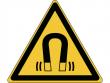 6: Warnschild - Warnung vor magnetischem Feld (gemäß DIN EN ISO 7010, ASR A1.3)
