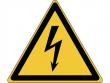 12: Warnschild - Warnung vor elektrischer Spannung (gemäß DIN EN ISO 7010, ASR A1.3)