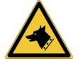 13: Warnschild - Warnung vor Wachhund (gemäß DIN EN ISO 7010)