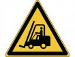 14: Warnschild - Warnung vor Flurförderzeugen (gemäß DIN EN ISO 7010, ASR A1.3)
