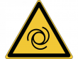 18: Warnschild - Warnung vor automatischem Anlauf (gemäß DIN EN ISO 7010, ASR A1.3)
