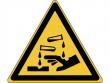 23: Warnschild - Warnung vor ätzenden Stoffen (gemäß DIN EN ISO 7010, ASR A1.3)